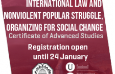 Training:  Certificate of advanced studies. International law and nonviolent popular struggle