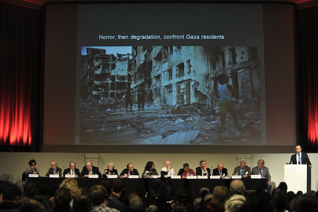 Russell's Tribunal on Palestine special session in Albert Hall, Brussels, 24th September