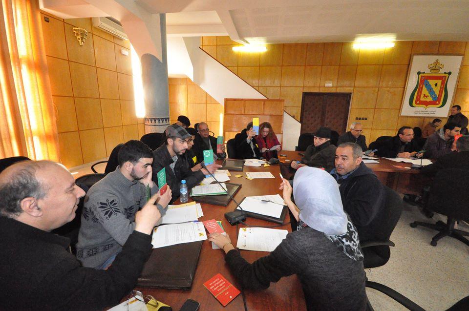 Acte organitzat per Alhucemes, que abordaba la falta de participació democràtica en l'educació al Marroc, el primer d'un total de deu tallers que es realitzaran arreu del país