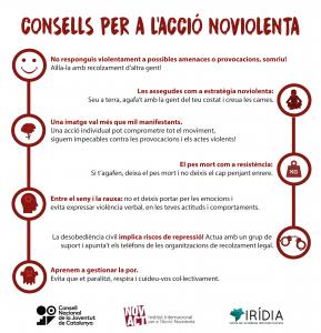 Infografia ACCIÓ NOVIOLENTA