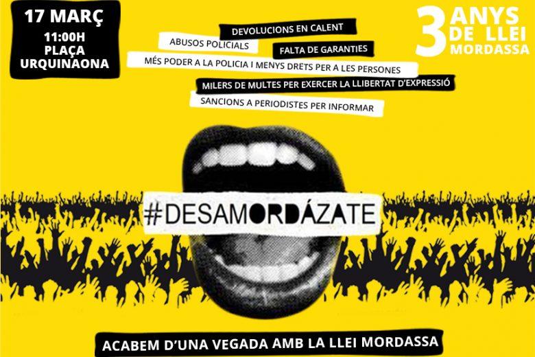 Mobilització: Emmordassades no oblidem, el 17 de març ens mobilitzem. Acabem ja amb les mordasses!