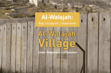 """Informe: Al Walajah, sota ocupació i aïllament"""""""