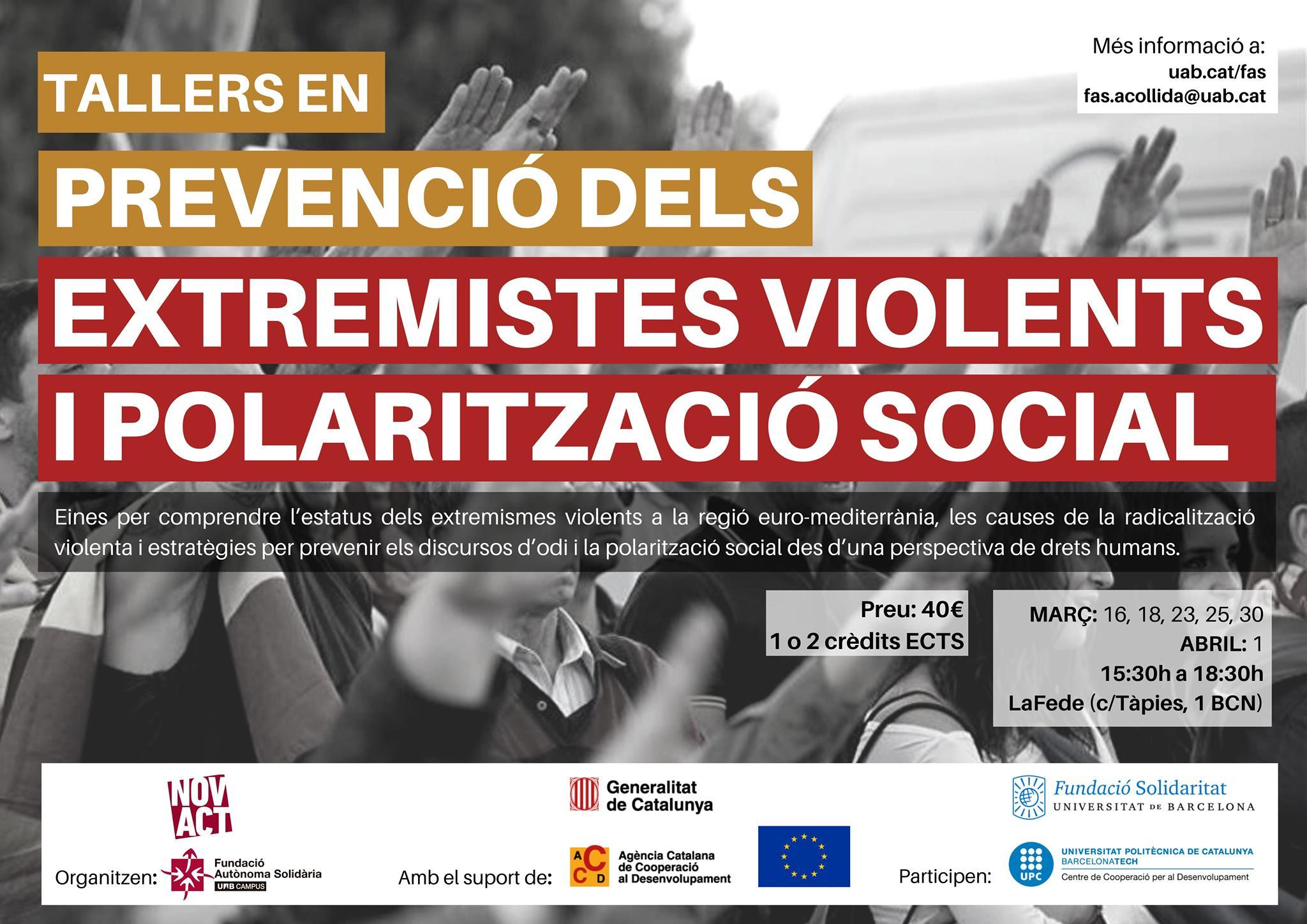 Formació: Curs inter-universitari en prevenció dels extremismes violents i polarització