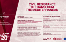 "AGENDA:  In our 20th Anniversary we go in depth about ""Civil Resistance to Transform the Mediterranean"""